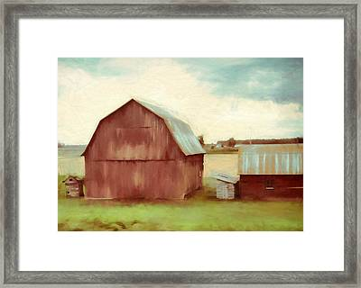 The Old Red Barn Framed Print by Dan Sproul
