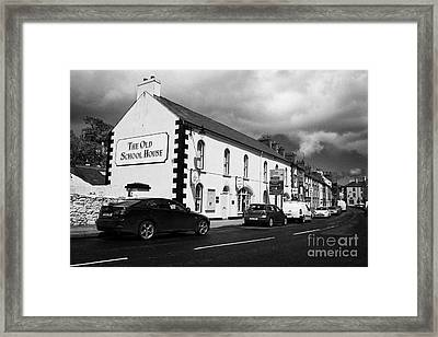 the old school house tourist information office mill street Cushendall County Antrim Northern Ireland UK Framed Print by Joe Fox
