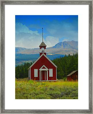 The Old Schoolhouse Framed Print by Bobbie Barth