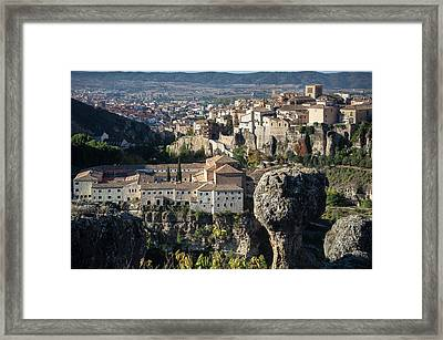 The Old Town Of Cuenca And The Hoz Del Huecar Gorge, Spain 2 Framed Print by Peter Eastland