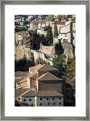 The Old Town Of Cuenca And The Hoz Del Huecar Gorge, Spain 5 Framed Print by Peter Eastland
