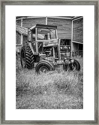 The Old Tractor By The Old Round Barn II Framed Print by Edward Fielding