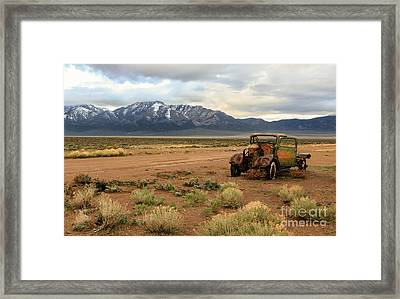 The Old Truck Framed Print by Robert Bales