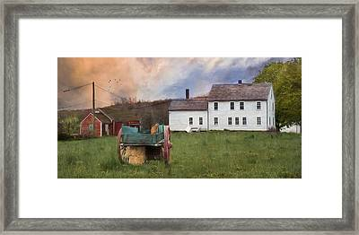The Old Wagon Framed Print by Robin-lee Vieira