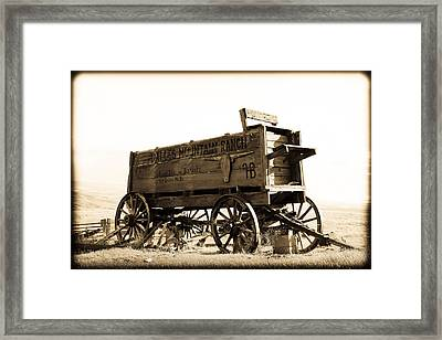 The Old Wagon Framed Print by Steve McKinzie