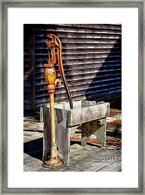 The Old Water Pump Framed Print by Olivier Le Queinec