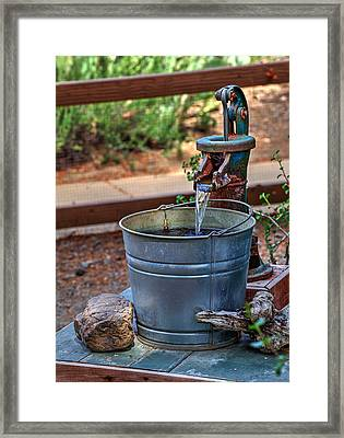 The Old Water Pump Framed Print by Richard Stephen