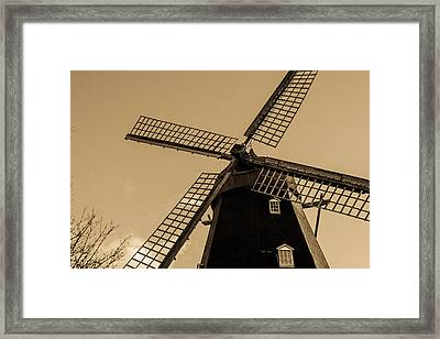 The Old Windmill Framed Print by Toppart Sweden