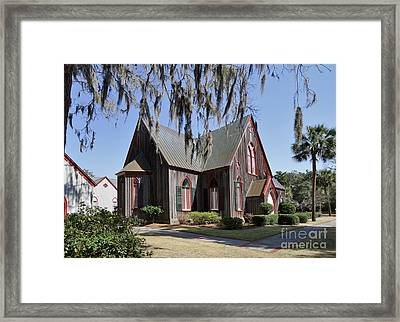 The Old Wooden Church Framed Print by Louise Heusinkveld