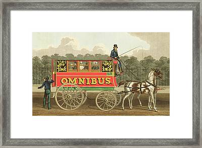The Omnibus Framed Print by Robert Havell