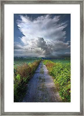 The Only Way In Framed Print by Phil Koch