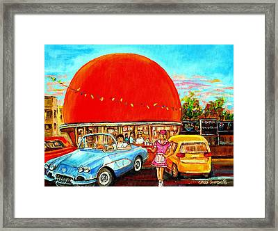 The Orange Julep Montreal Framed Print by Carole Spandau
