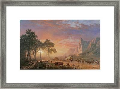 The Oregon Trail Framed Print by Albert Bierstadt