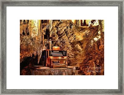 The Organ In Luray Caverns Framed Print by Paul Ward