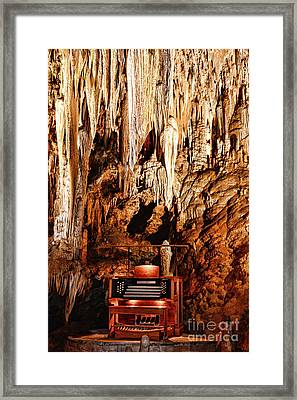 The Organ In The Cavern Framed Print by Paul Ward