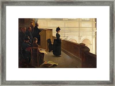 The Organ Rehearsal Framed Print by Henry Lerolle
