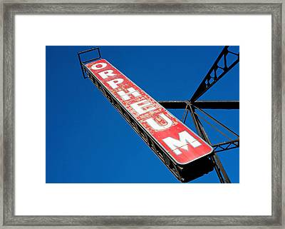 The Orpheum Framed Print by Todd Klassy