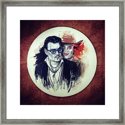 The Other Me Framed Print by Roxana Barbu