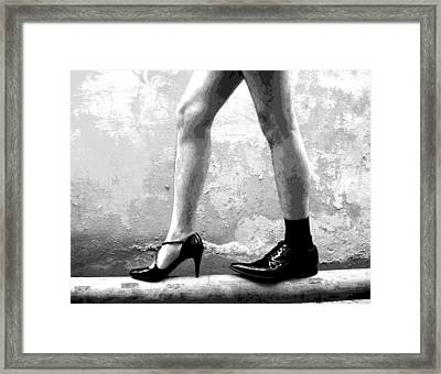 The Other Shoe 2 Framed Print by Sumit Mehndiratta
