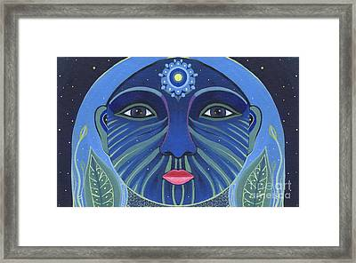 The Other Side 2 - Full Face 2 Framed Print by Helena Tiainen
