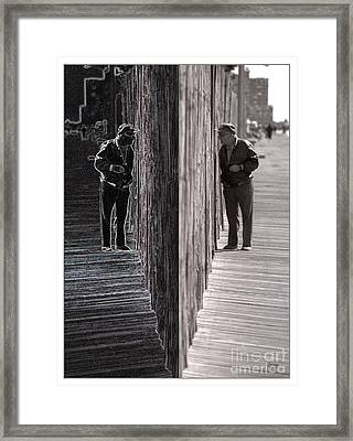 Both Sides Of The Fence Framed Print by Jeff Breiman
