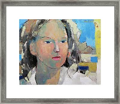 A Woman Framed Print by Becky Kim