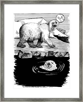 The Otter Loved The Bear Framed Print by Laura Brightwood