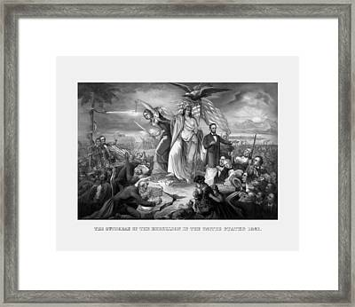 The Outbreak Of The Rebellion In The United States Framed Print by War Is Hell Store
