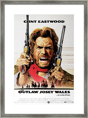 The Outlaw Josey Wales, Clint Eastwood Framed Print by Everett