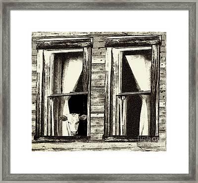 The Outside Inn - Milkshakes On The House Framed Print by Geordie Gardiner