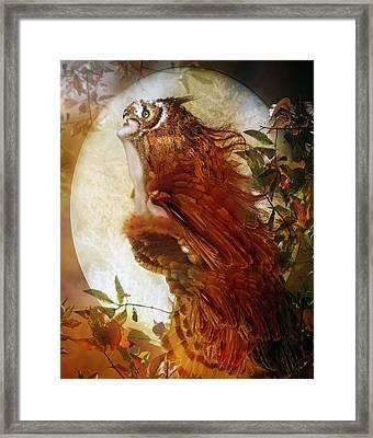 The Owl Framed Print by Mary Hood