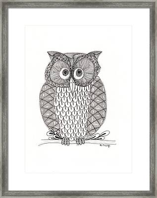 The Owl's Who Framed Print by Paula Dickerhoff