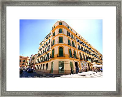 The Pablo Picasso Birthplace Museum In Malaga Spain Framed Print by Eduardo Huelin