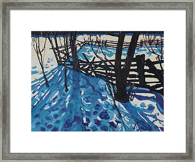 The Paddock Framed Print by Phil Chadwick