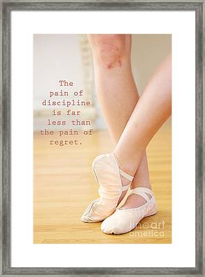 The Pain Of Discipline Framed Print by Kim Fearheiley