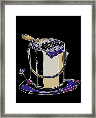 The Paint Bucket Framed Print by Russell Pierce