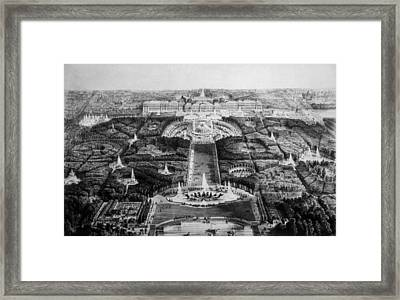 The Palace Of Versailles, 19th Century Framed Print by Everett