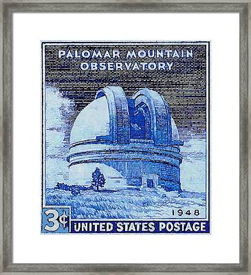 The Palomar Mountain Observatory Stamp Framed Print by Lanjee Chee