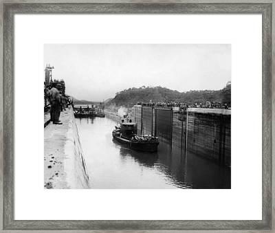 The Panama Canal, Circa 1913 Framed Print by Everett