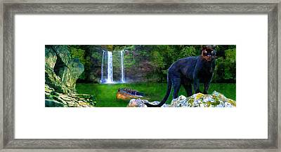 The Panther Framed Print by Michael Cleere