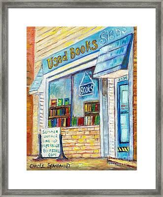 The Paperbacks Plus Book Store St Paul Minnesota Framed Print by Carole Spandau