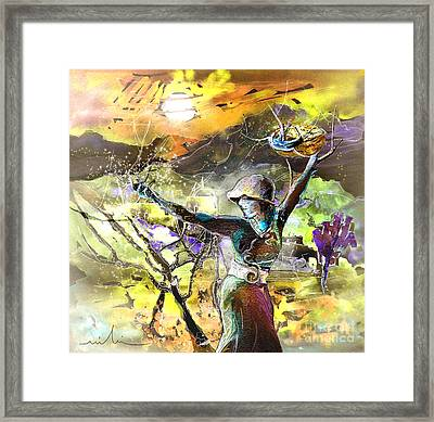 The Parable Of The Sower Framed Print by Miki De Goodaboom