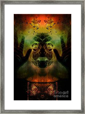 By The Light Of The Cauldron Framed Print by Heather King