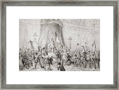 The Paris Revolution Of 1848, The Mob Framed Print by Vintage Design Pics