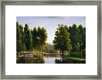 The Park At Mortefontaine Framed Print by Jean Bidauld