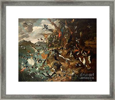 The Parliament Of Birds Framed Print by Carl Wilhelm de Hamilton