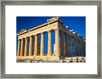 The Parthenon Framed Print by Inge Johnsson