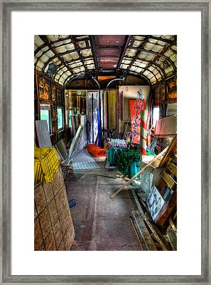 The Party Is Over In The Rail Car Framed Print by David Patterson