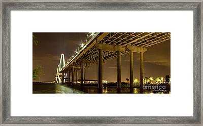 A Great Passageway Arthur Ravenel Jr Bridge Charleston South Carolina Framed Print by Reid Callaway