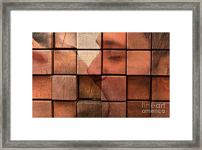 The Passion Of A Kiss 2 Framed Print by Mark Ashkenazi